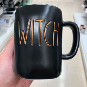 NEW Rae Dunn Witch Mug Orange Inside